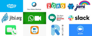 Aplicaciones para video llamada, las marcas son propiedad de sus respectivos dueños